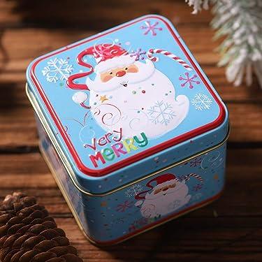 undefined - Venta Caliente Cuadrado Bump Candy Caja de Almacenamiento de Caja de Hierro de la Caja de Navidad de Caramelos de Regalo de los Niños Para 2019 Hogar Depósito de Almacenamiento de Dulces