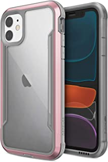 Defense Shield, iPhone 11 Case - Military Grade Drop Tested, Anodized Aluminum, TPU, and Polycarbonate Protective Case for Apple iPhone 11, (Rose Gold)