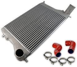 New Turbo Front Mount Intercooler Kit, Red Pipe Boot Hose For VW Golf MK5 MK6 GTI Jetta Audi A3 Passat 2.0T Aluminum Silver