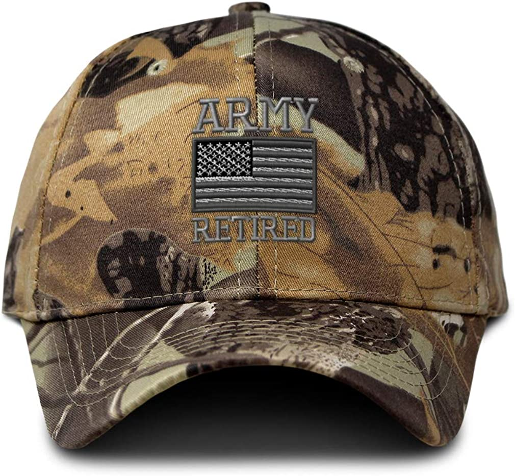 Speedy Pros Camo Baseball Cap Us Army Retired Embroidery Hunting Dad Hats for Men & Women