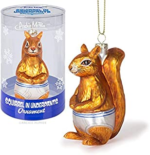 Accoutrements Ornament Squirrel in Underpants Glass Standard