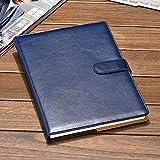 TyTy 16 K portátil papelería orden B5 grueso para negocios cuaderno grande contratado diario (color: negro)