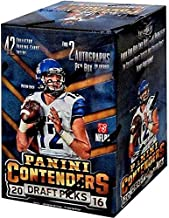 2016 Panini Contenders NFL Draft Picks Football Unopened Blaster Box of Packs with 2 GUARANTEED AUTOGRAPHS Per Box Try for Jared Goff, Carson Wentz, Paxton Lynch and Others
