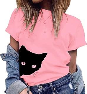 [エアバイ]猫 Tシャツ 半袖 ネコ 柄 トップス レディース M~2XL