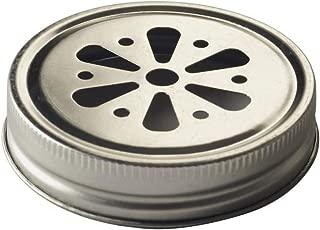 Kilner Drinking Jar Flower Lids - Pack of 6   Kilner Jar Lids, Straw Hole Lids for Drinking Jars
