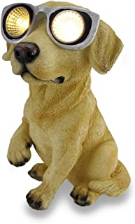 Things2Die4 Golden Lab `Solar Eyes` Solar LED Accent Light Sculpture