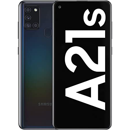Samsung Galaxy A21s Android Smartphone, SIM Free Mobile Phone, Black, (UK Version)