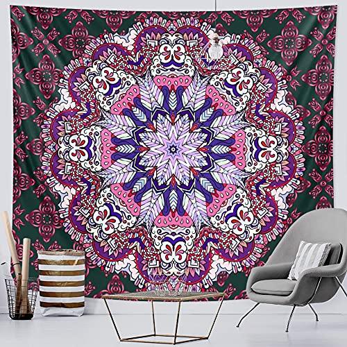 PPOU Tapiz de Mandala Indio brujería hogar Art Deco Tapiz Hippie Estilo Boho Fondo Tela Manta Tela Colgante A1 73x95cm