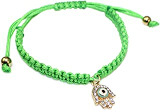 HuoGuo Handmade Lucky Red String Braided Rope Bracelets Red Thread Turkish Crystal Hand Charm Bracelets for Women Jewelry Gifts