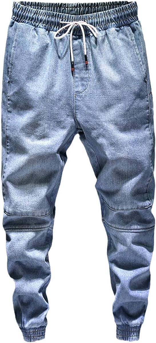 CACLSL Fall Men's Light Blue Harlan Jeans Stretch Waist Jeans