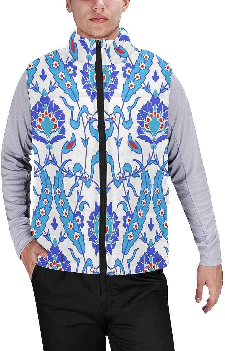 InterestPrint Men's Lightweight Outwear Vest for Hiking, Fishing Indian Madnala Boho
