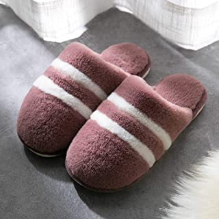 YXOPB Cotton Slippers Female Home Couple Cotton Slippers Indoor Slippers Cotton Slippers 37-38/Purple