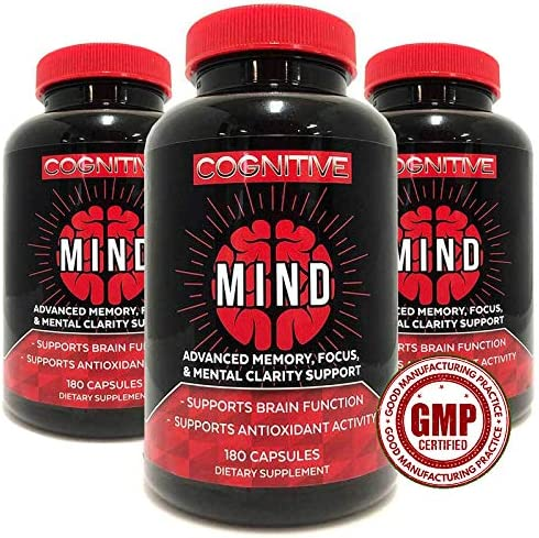 Cognitive Mind Top Advanced Brain Supplement Memory Booster Revolutionary Formula for Enhanced product image