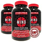 Cognitive Mind - Top Advanced Memory Supplement - Revolutionary Formula for Enhanced Mental Focus, Cognition, Mood - 180 Veggie Servings - Premium Ingredients - Achieve & Elevate Your Life