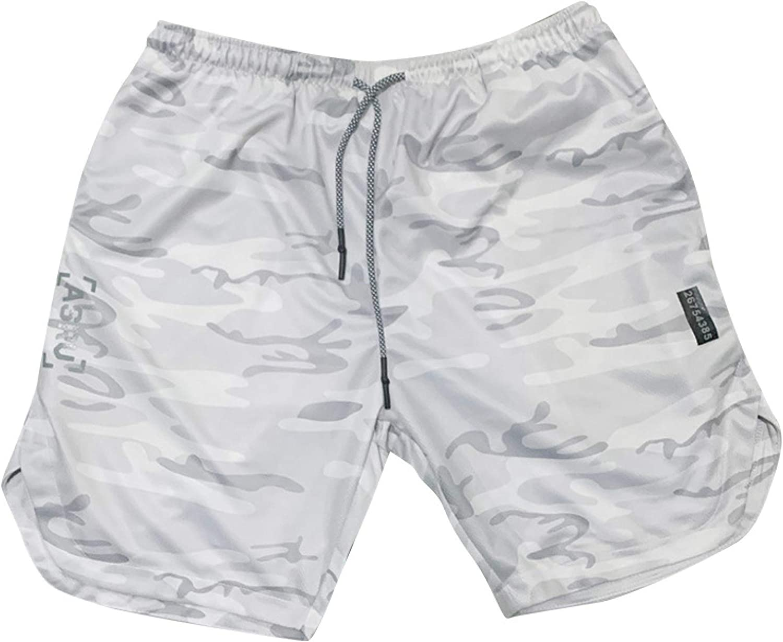 Wantess Men's Summer Thin Shorts Loose Straight Comfortable Breathable Outdoor Running