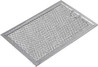 RDEXP WB06X10309 - Filtro de Grasa para microondas (Acero Inoxidable, 7,60 x 5,04 x 0,08 Pulgadas), Color Plateado