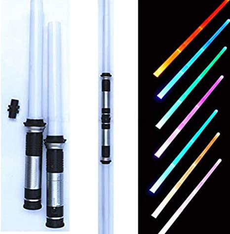 2PCS Lightsword Scalable Jedi Weapons Star Wars Sounds Lightsaber Toy For Boys