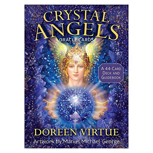 presentimer Crystal Angels Oracle Cards: Conjunto de 44 Cartas del Tarot