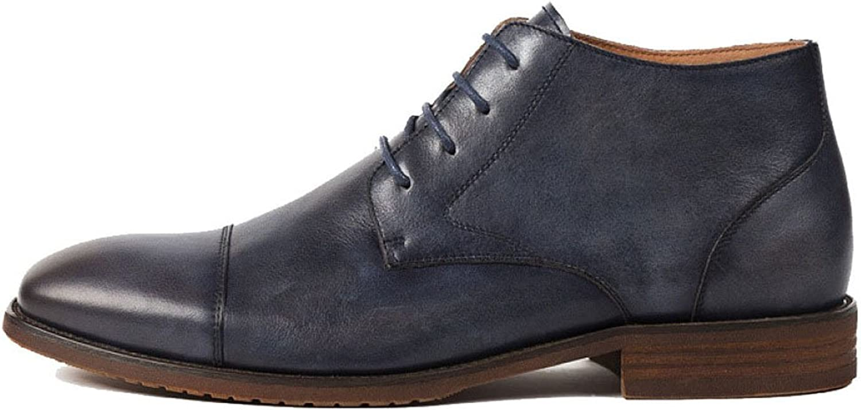 ZPJSZ Männer Jahreszeiten Jugend Spitze England Martin Stiefel Mode Mode Mode Lässig Weinlese Lederstiefel,Blue-38 B07F7X2BPP  0b28e2