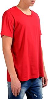 Maison Martin Margiela 10 Men's Red Crewneck T-Shirt