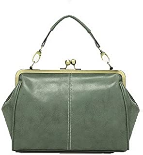 Shoulder Bag Women's Crossbody Bags Casual Buckle Retro PU Shoulder Bags Handbag Clutch (Color : Green)