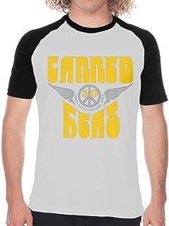 MONIKAL Men's Raglan Baseball T-Shirt Canned-Heat Fashion Printed Short Sleeves Tee