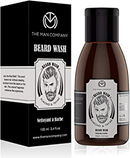 The Man Company Beard Wash & Shampoo For Beard Softener with Almond And Thyme Essential Oils -100ml