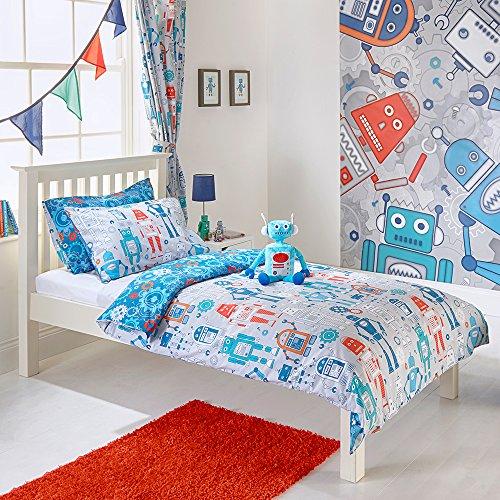 Bettwäsche-Set mit Robots für Kinderbett, Bettwäsche, Robots Bettbezug & Kissenbezug, für Kinder