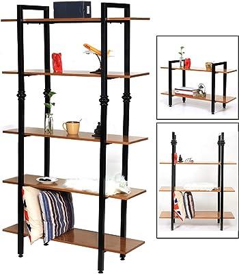 Amazon.com: LENTIA Estantería de 5 niveles para libros ...