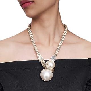 Bruxelles08 Parure de bijoux pour femme avec collier ras-du-cou et boucles doreilles