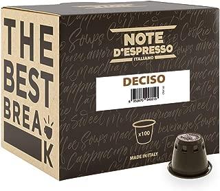 Note D'Espresso Deciso, Capsule per caffè compatibili Nespresso, 5,6 g x 100 capsule