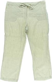 1bac3ac8bc4 Charter Club Women s Elastic Waist Drawstring Linen Pant Flax oX Short