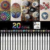 Rotuladores metálicos premium, 20 colores scrapbooking materiales para Cerámica, Porcelana, Piedras, Madera, Tejido, Taza, DIY, álbum, cumpleaños por bricolaje Tarjeta