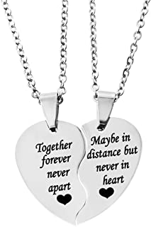 bff heart necklace