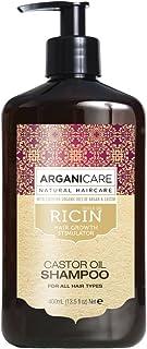 Champú de aceite de ricino Arganicare estimulador del crecimiento del cabello con aceites de argán orgánico certificados ...