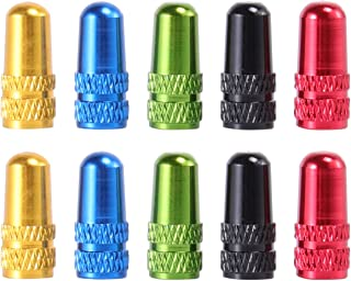 BESPORTBLE 6Pcs Presta Valve Caps Aluminum Alloy Bicycle Tire Valve Caps Bicycle Dust Covers French Tire Valves Caps