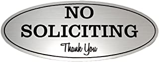 No Soliciting Sign – Digitally Printed Indoor/Outdoor Sign – Durable UV and Weather Resistant (Small - 2