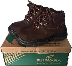 Bota botina de Segurança Fujiwara C/Bico PVC Marrom Tam 37