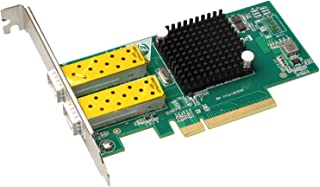 PULUZ-AU Computer Accessories TXA037 Intel 82599 Dual SFP Port PCI Express FCoE PCIe x8 10 Gigabit Ethernet Network Optica...