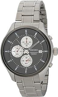 Seiko Men Metallic, Black Chronograph Watch - SKS545P1