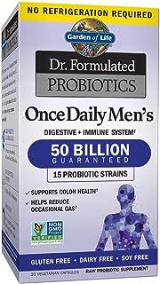Garden of Life Dr. Formulated Probiotics for Men, Once Daily Men's Probiotics, 50 Billion CFU Guaranteed, 15 Strains, Shel...