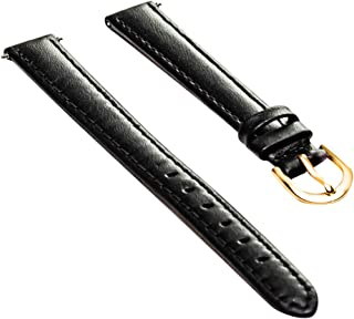 Timex Q7B786FZ Black Padded Calfskin 12mm LONG Replacement Watchband