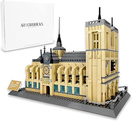 popular ArtorBricks Architectural Notre Dame de Paris Large Collection Building Set Model Kit and Gift outlet sale for Kids and popular Adults , Compatible with Lego (1378 Pieces) online sale