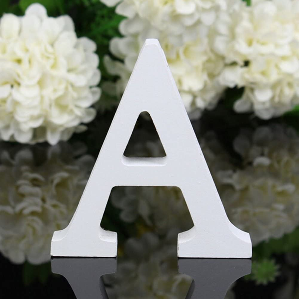 Totoo Decorative Wood Letters, Hanging Wall 15 Letters Wooden Alphabet Wall  Letter for Children Baby Name Girls Bedroom Wedding Brithday Party Home