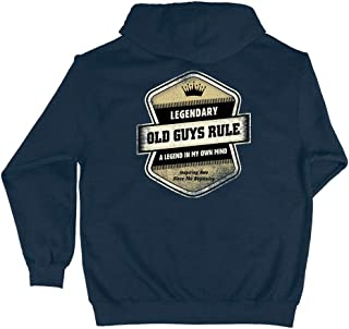 Hooded Sweatshirt for Men | Legendary Badge | Pullover Hoodie | Harbor Blue