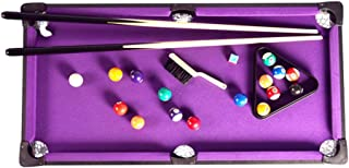 Sdcvopl-Game toy Tabletop Pool Table Set and Accessories Billiard Tables Balls Cues and Rack - Fun Portable Family Games for Family Parties Camping Road Trips (Color : Purple, Size : 91x46x20cm)