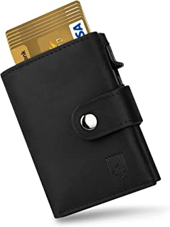 DODENSHA Credit Card Wallet, Leather Card Holder, RFID Blocking Wallet, Trifold Wallets Slim for Men with Zip Coin Pocket,...