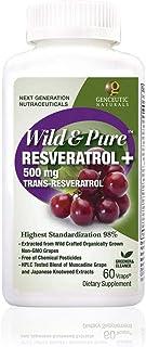 Genceutic Naturals Wild & Pure Resveratrol Vegetarian Capsules, 60-Count