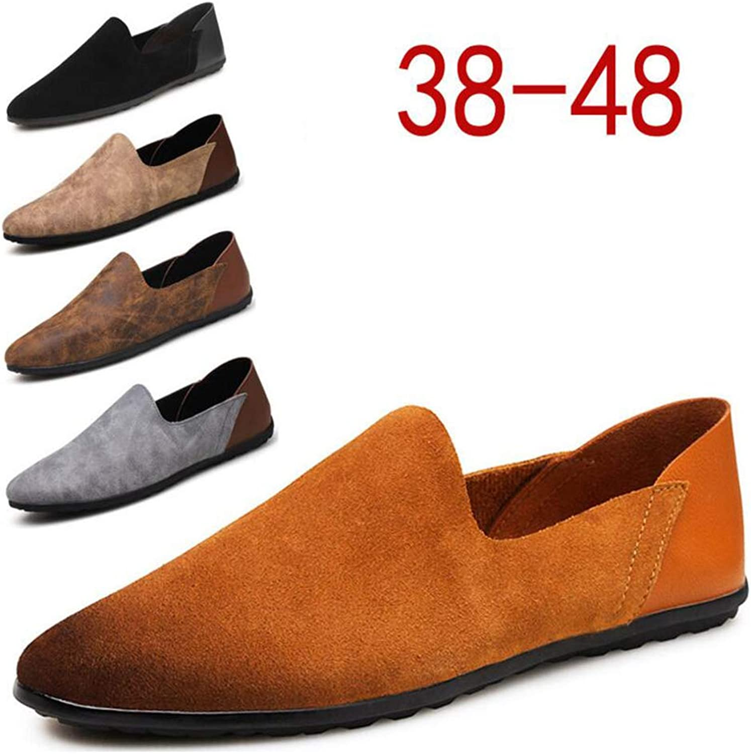 Y-H Men's Casual shoes,Loafers & Slip-Ons Lazy shoes, Light Soles Comfort Driving shoes Walking Gym shoes Trekking,b,39