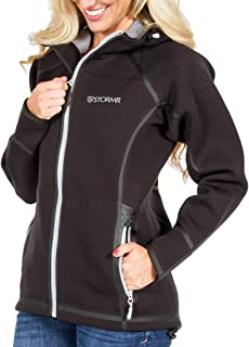 Stormr Women's Typhoon Neoprene Waterproof, Windproof, Warm, Comfortable, Maneuverability, Foul Weather Jacket, Perfect for Fishing, Sailing, Cycling and Hunting